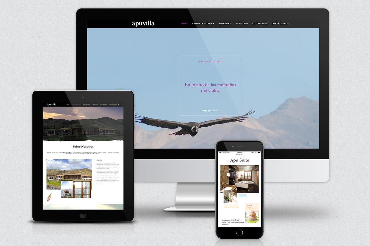 En Enjoit diseñamos el branding y página web para el nuevo hotel de lujo Apuvilla, ubicado en el Valle del Colca, Arequipa, Perú.